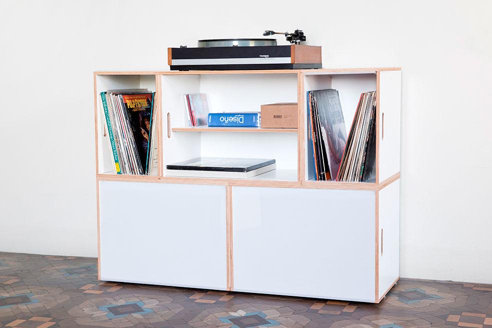 Cajas xl para discos de vinilo y archivadores brickbox - Muebles para cd ...