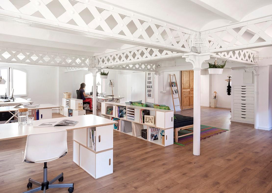 Muebles modulares para la oficina brickbox estanterias for Diseno de muebles para oficina