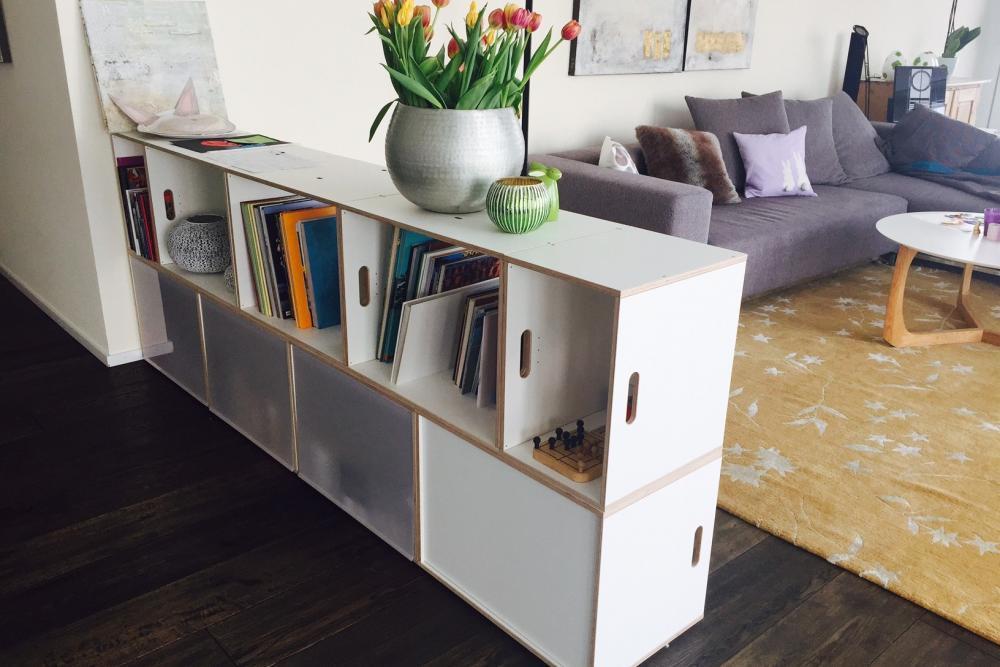 Brickbox mueble separador de espacios brickbox for Mueble separador de ambientes