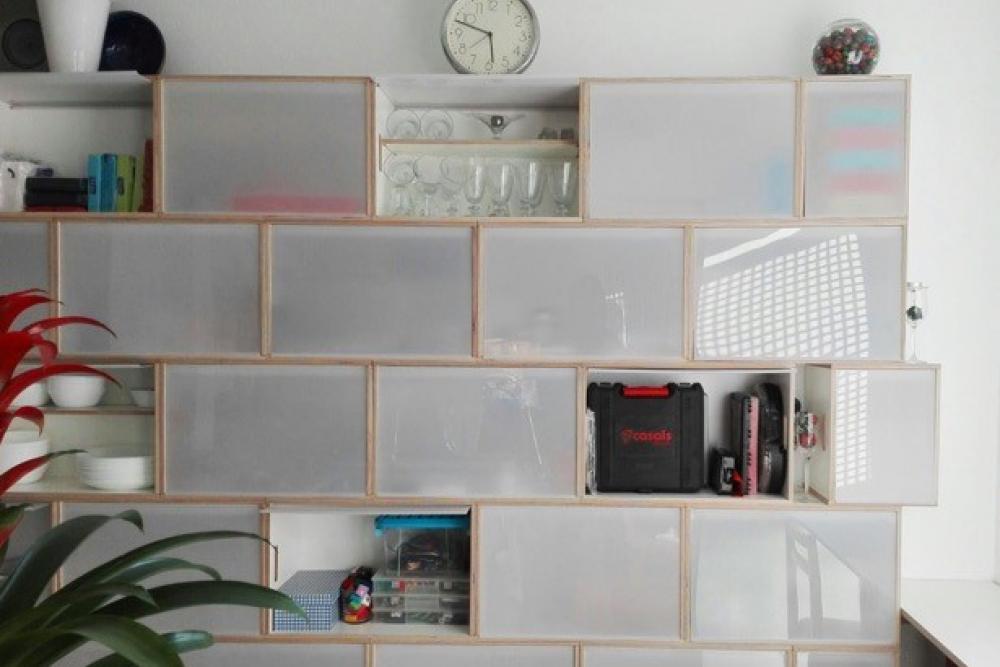 Mueble contenedor para cocina despensa y office - Estanterias de cocina ...